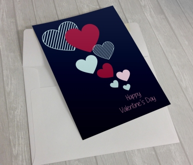 Flying hearts card