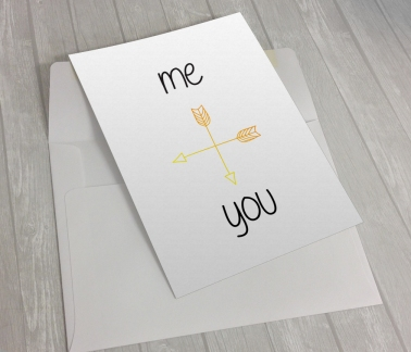 """""""me and you"""" card"""