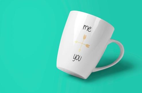 """""""me and you"""" mug"""